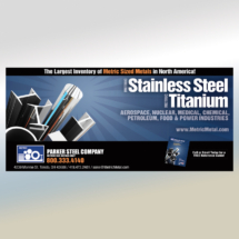 Parker Steel Stainless & Titanium Ad