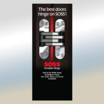 SOSS Hinge Roller Shade Display